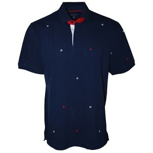 Tommy Hilfiger Embroidered H Logo Polo, Navy, XL